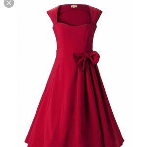 Red Lindy Bop Swing Dress